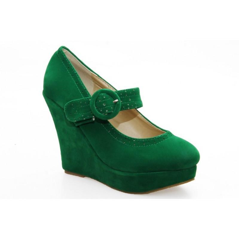 Pantofi dama verzi Norina