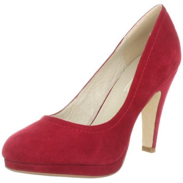 Buffalo London GDY132-3 Pantofi cu toc din piele intoarsa