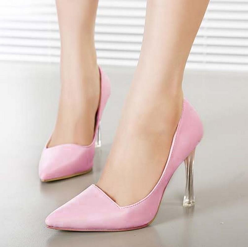 CH2326-5 Pantofi office cu varf ascutit si toc inalt