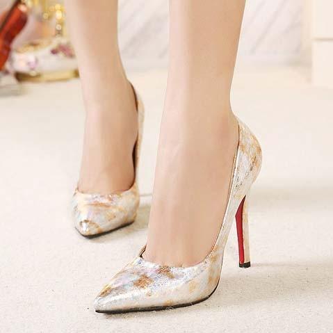 CH2324-7 Pantofi cu varf ascutit si model