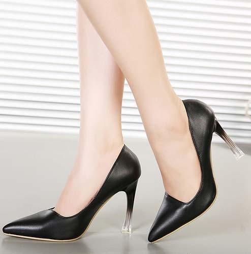 CH2326-1 Pantofi office cu varf ascutit si toc inalt