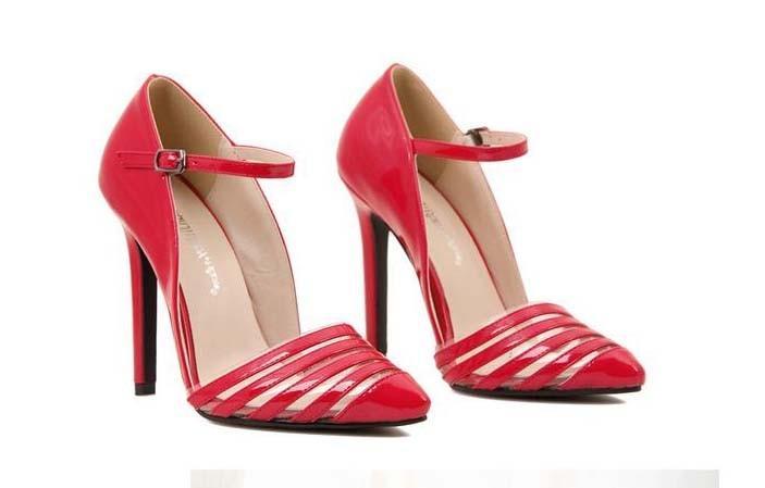 CH2266-3 Pantofi eleganti tip stiletto cu catarama