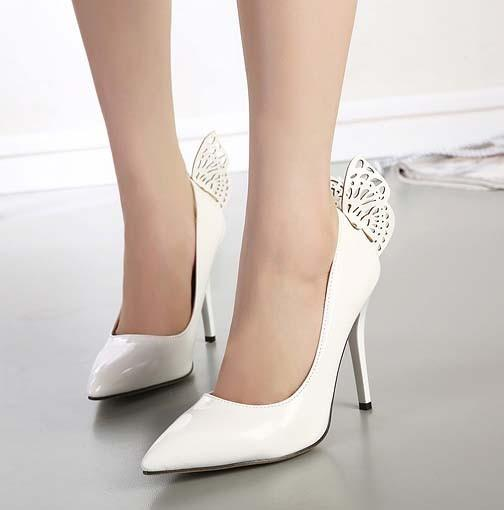 CH2265-2 Pantofi eleganti cu toc inalt si fluturas la spate